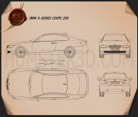 BMW 3 series Coupe 2011 Blueprint