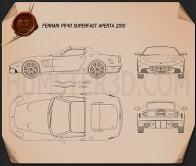 Ferrari P540 Superfast Aperta 2010 Blueprint