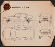 Hyundai Grandeur (Azera) 2011 Blueprint