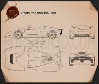 Ferrari P4/5 Pininfarina 2006 Blueprint