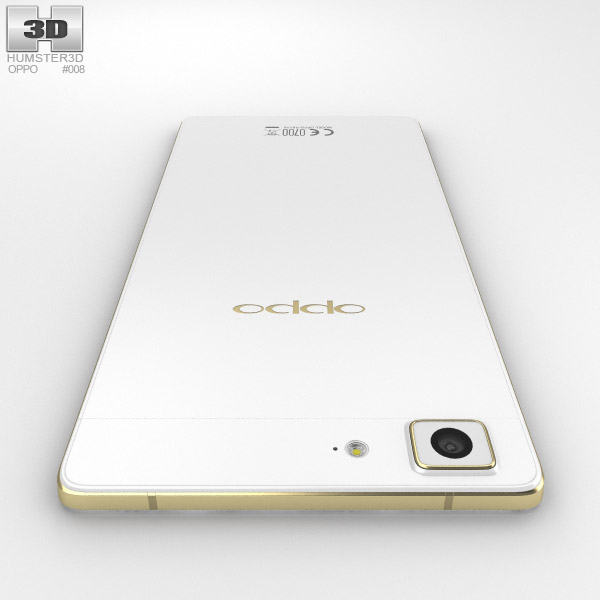 oppo r5 gold 3d model   hum3d