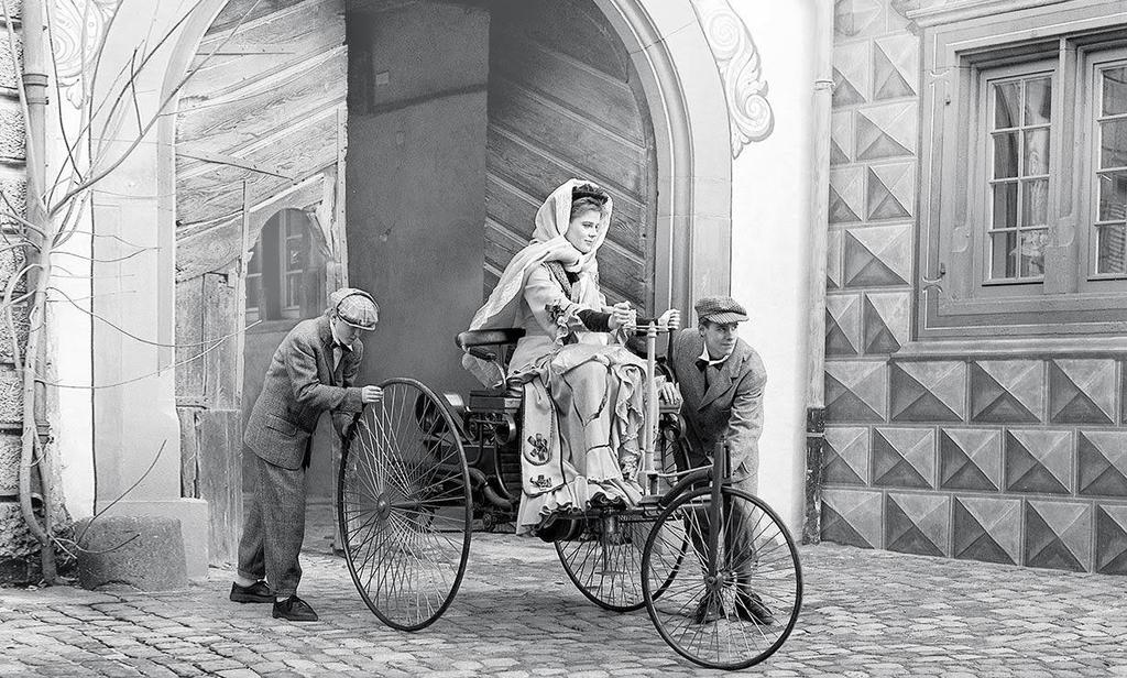 Bertha Benz on the ride