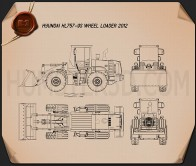Hyundai HL757-9S Wheel Loader 2012 Blueprint