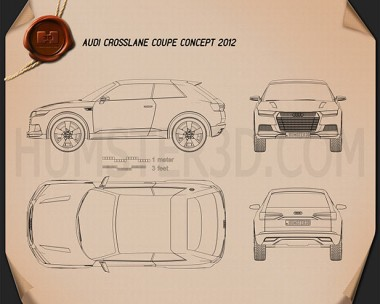 Audi Crosslane Coupe 2012 Blueprint
