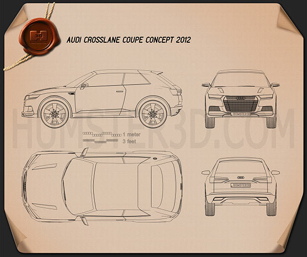 Audi Crosslane Coupe 2012 Blueprint