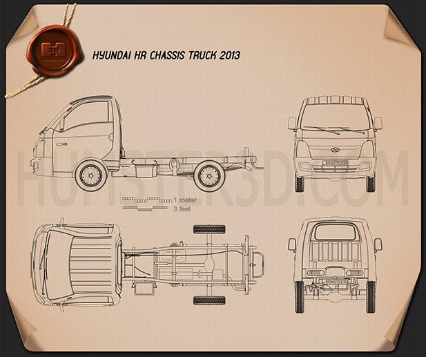 Hyundai HR Chassis Truck 2013 Blueprint