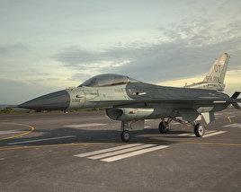 General Dynamics F-16C Block 52 3D model