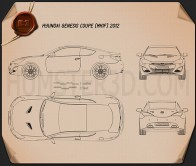 Hyundai Genesis coupe 2012 Blueprint