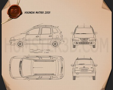 Hyundai Matrix (Lavita) 2001 Blueprint