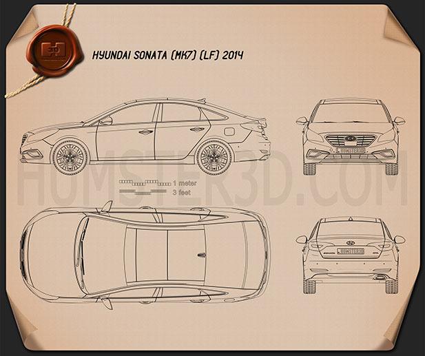 Hyundai Sonata (LF) 2015 Blueprint
