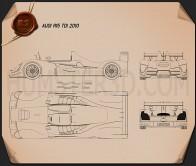 Audi R15 TDI 2010 Blueprint
