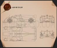 Audi R18 TDI 2011 Blueprint