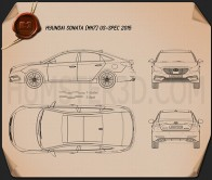 Hyundai Sonata (US) 2015 Blueprint