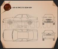 Audi A6 (C4) sedan 1994 Blueprint