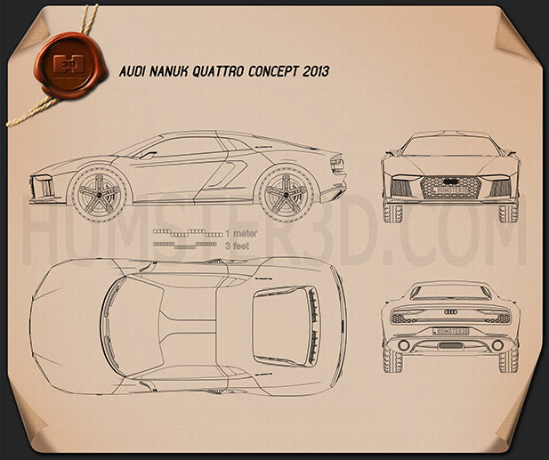 Audi Nanuk Quattro 2013 Blueprint