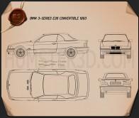 BMW 3 Series (E36) convertible 1994 Blueprint