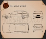 BMW 3 Series (E36) touring 1994 Blueprint