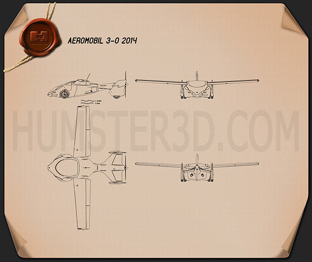Aeromobil 3.0 2014 Blueprint