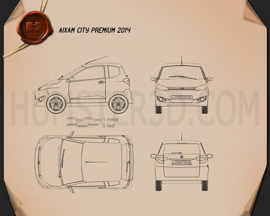 Hatchback blueprint 3d models download hum3d for Honda civic a13 service