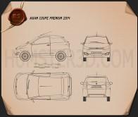 Aixam Coupe Premium 2014 Blueprint