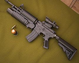 Colt M4A1 with M203 3D model