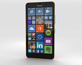 Microsoft Lumia 640 XL Orange 3D model