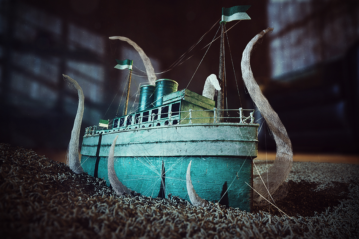 Abandoned Toy Boat by Lucas Rodrigues Miguel