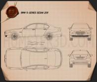 BMW 5 series sedan 2011 Blueprint