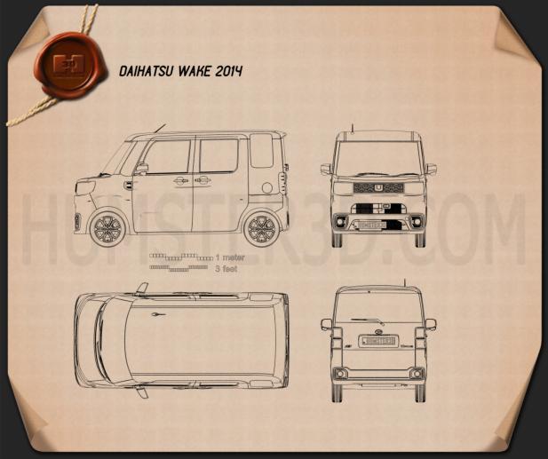 Daihatsu Wake 2015 Blueprint