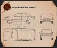 Isuzu Gemini (PF60) sedan 1979 Blueprint