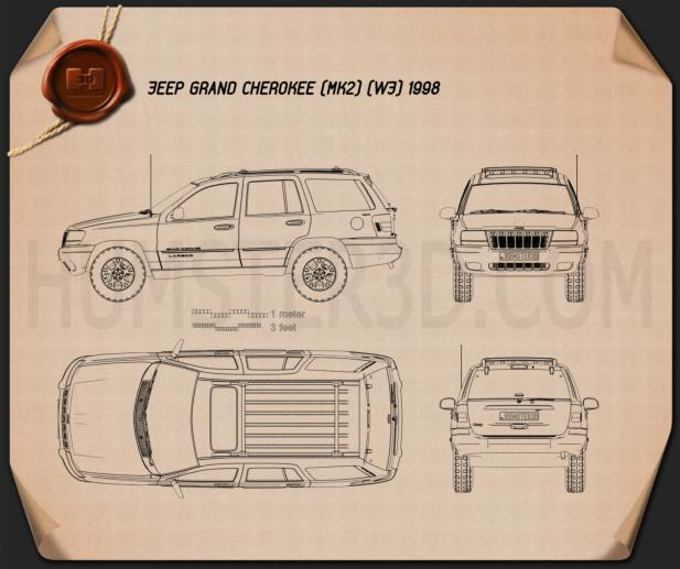 Jeep Grand Cherokee (WJ) 1998 Blueprint