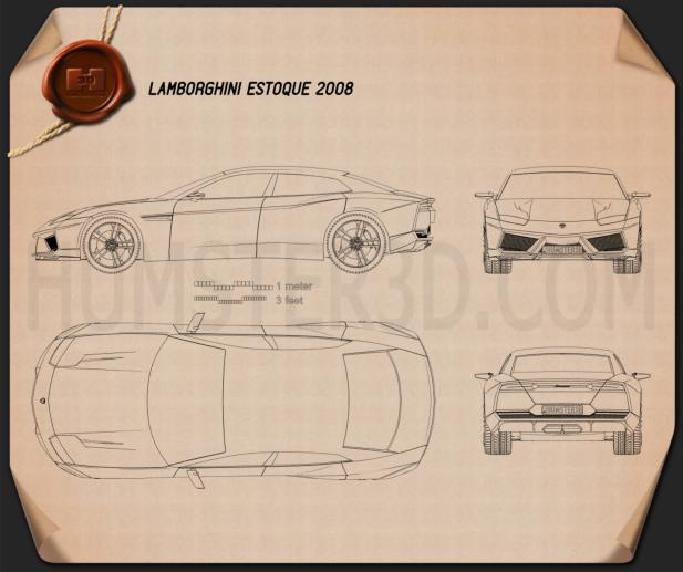 Lamborghini Estoque Blueprint