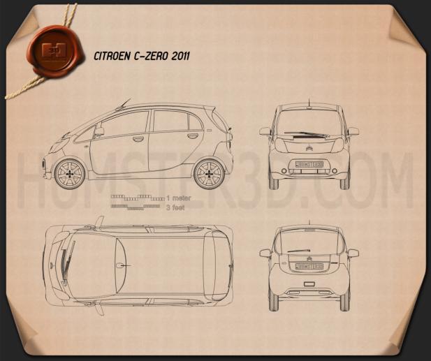 Citroen C-zero 2011 Blueprint
