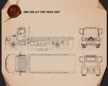 Hino 258 ALP Tow Truck 2007 Blueprint