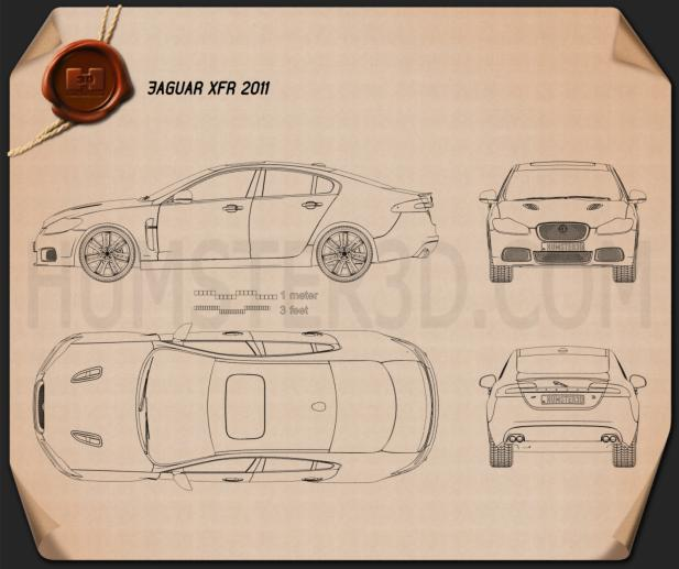 Jaguar XFR 2011 Blueprint