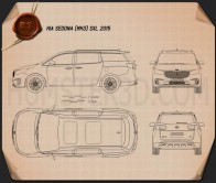 Kia Sedona SXL 2015 Blueprint