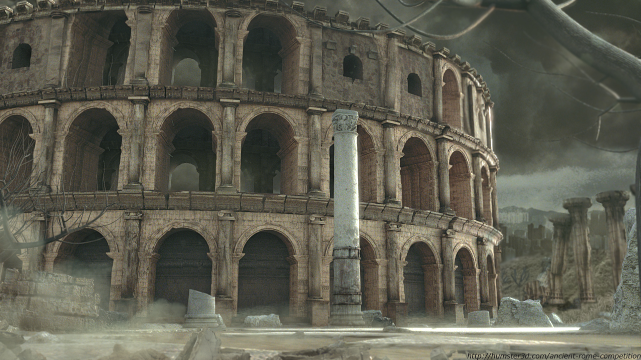 Collosseum Ruins 3d art