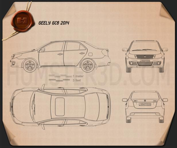 Geely GC6 2014 Blueprint