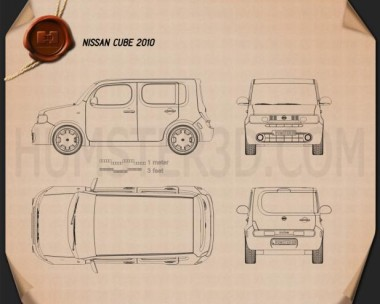 Nissan Cube 2010 Blueprint