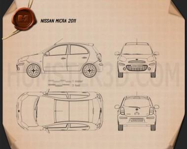 Nissan Micra 2011 Blueprint