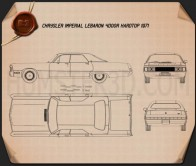 Chrysler Imperial LeBaron 4-door Hardtop 1971 Blueprint