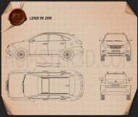 Lexus RX 2010 Blueprint