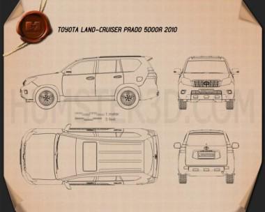 Toyota Land Cruiser Prado 5-door 2010 Blueprint