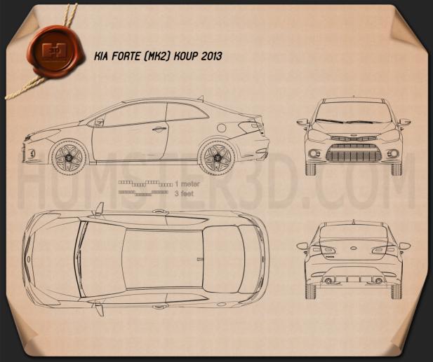 Kia Forte Koup 2014 Blueprint