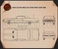 Buick Electra 225 Custom Sport Coupe 1969 Blueprint
