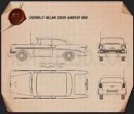 Chevrolet BelAir 2-door hardtop 1956 Blueprint