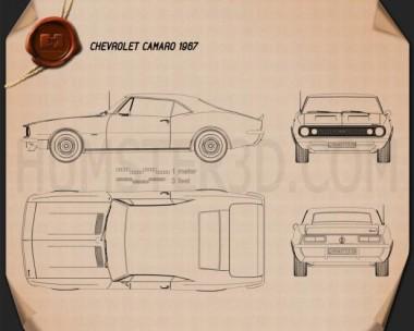 Chevrolet Camaro SS 1967 Blueprint