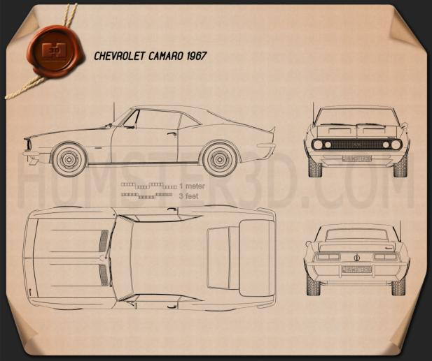 Chevrolet Camaro SS 1967 Blueprint
