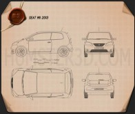 Seat Mii 3-door 2013 Blueprint