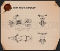 Triumph Rocket III Roadster 2013 Blueprint